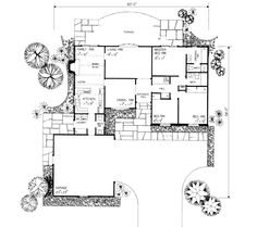 Contemporary House Plan 90203 Level One