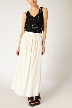 Pleated Beach Skirt
