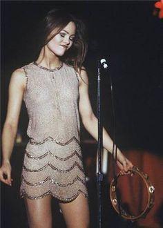 Vanessa Paradis young model dress style