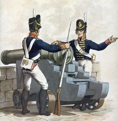Gunners of the Royal Artillery: Battle of Waterloo June picture by Charles Hamilton Smith British Army Uniform, British Uniforms, Waterloo 1815, Battle Of Waterloo, Military Weapons, Military Art, Empire, Disco Fashion, War Of 1812