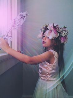 Magic light. Wovenplay Dress. Flower Crown. By Kirsten Rickert