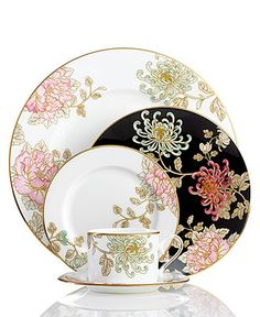 Beautiful! Even though we have NO need for fine china right now. Marchesa by Lenox Dinnerware, Painted Camellia Collection