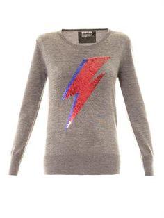 Markus Lupfer Bowie thunderbolt embellished sweater
