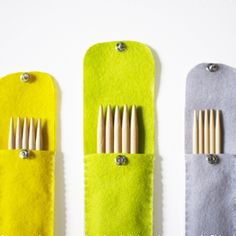 Keep your knitting needles cozy with this felt needle case DIY.