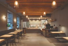 Commercial lighting fixtures are a key element in the installation of a selling point. Carefully designed interiors you can see I diminished by poor Reclaimed Wood Wall Panels, Wood Panel Walls, Modern Flooring, Luxury Flooring, Logan, Cork Panels, Commercial Lighting Fixtures, Timber Planks, Restaurants