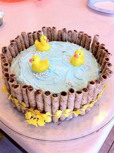 creative food ideas   Creative Food Ideas / Cute Duckie Pond Cake I made for a recent Baby ...