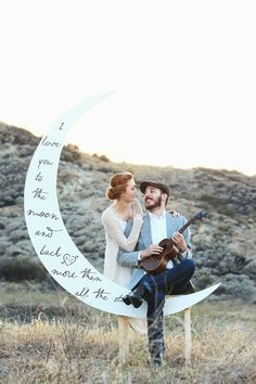 PC: © Traveling Tree Photography ♥ I Love you to the Moon and Back ...More than all the Stars. Share with your love this 6 feet high Poetry Crescent Paper Moon and Bench! Each Paper Moon from our shoppe is handcrafted from 5/8 (AC Grade) plywood, textured, hand-painted, and easily mounts onto our specially designed bench. The moon itself folds down (24 x 36 inches) and unfolds, making it easier to travel with you or to store away. Once setup is complete, the moon stands just over 7 feet ...