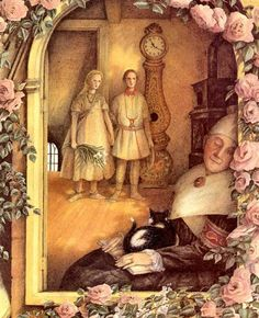 Angela Barrett illustration from 'The Snow Queen' by Hans Christian Andersen Snow Goose, Royal College Of Art, Snow Queen, Fairy Tales, Folk, Illustration Art, Drawings, Hans Christian, Colorado