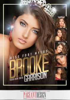 Brooke Garrison - Miss Ft. Myers Teen USA 2015 | Color Pageant Ad Design | We offer graphic design solutions for all your pageantry needs! | Pageant Ads / Pageant Program Books / Pageant Promo Flyers  Items + more! | for samples and prices check out: http://www.pageantdesignsolutions.com/