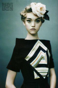 Gemma Ward by Paolo roversi, Vogue Italia. December 2005