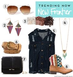 Trending Now: New Frontier.  I'd wear this...minus the boots... :S