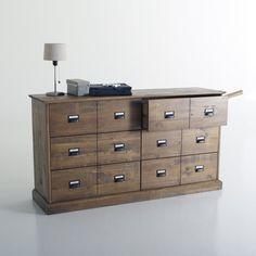 Commode, pin massif, 6 tiroirs, Lindley La Redoute Interieurs | La Redoute Mobile