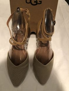fcd652b4764 UGG Izabel Mar D Orsay Flats PERL Beige Tan LEATHER Ankle Strap Shoes Size  9 New  fashion  clothing  shoes  accessories  womensshoes  flats (ebay link)