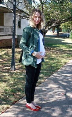 Fall layering | my how-to with a baby bump. #maternity #pregnancy #thirdtrimester