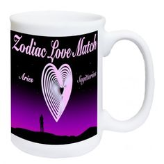 Zodiac Love Match.  Add you and your partners sign to this mug