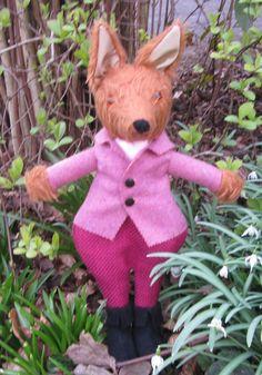 OOAK Fox Toy Cuddly Stuffed Animal Chestnut by COLDHAMCUDDLIES