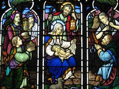 Detail of the Adoration of the Magi Stained Glass Window; the Anglican Church of St Paul – Corner Queen and Bridge Streets, Korumburra
