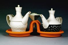 cruets with tray and funnel