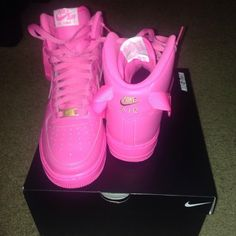 info for b1a5f 3e505 Bubblegum pink Nike Air Force 1s High top sneaks Pink Nikes, Nike Free  Shoes,