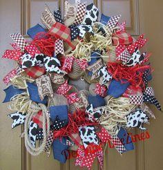 Western Deco Mesh Wreath. By DeeVine DeeZines