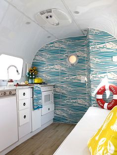 Living in an Airstream trailer and be on the go sounds adventurous. Would you consider the nomadic lifestyle and live in an Airstream t. Airstream Campers, Airstream Interior, Remodeled Campers, Airstream Remodel, Airstream Living, Trailer Interior, Camper Van, Airstream Decor, Caravan Living