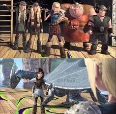 The gang except Hiccup with heather