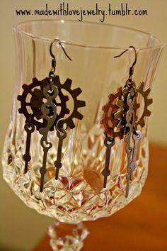 Steampunk Chandelier Gear Earrings