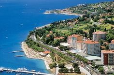 Portoroz, Slovenia.  When I lived in Venice, we hopped the border and had lunch here.  Felt weird with the Bosnian war not that far away.