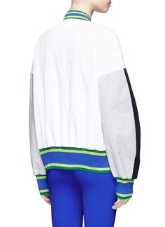 No Ka'Oi | 'U'I' colourblock performance bomber jacket