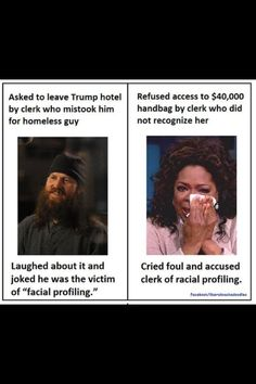 Oprah has become a hypocritical twat who doesn't hesitate to profile white people en masse.
