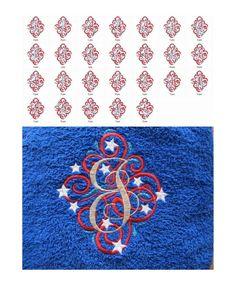 Ornamental swirl and curl Monogram whole set...
