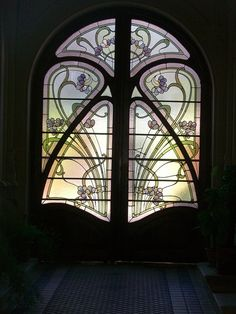 Beautiful stained glass inserts