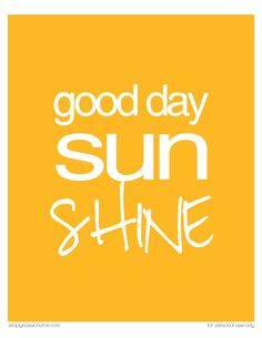 Simply Klassic Home: Good Day Sunshine Printable {Ready 4 Summer Crafts & Printables Party & Linky}
