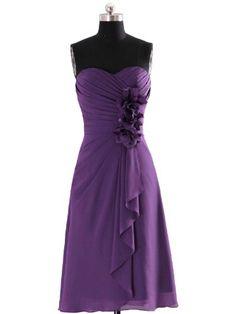 Cocomelody Women's A-line Knee Length Bridesmaid Dress Bbal0051 2 Purple COCOMELODY,http://www.amazon.com/dp/B00GYSZRLE/ref=cm_sw_r_pi_dp_8RUNsb0DD26N0942