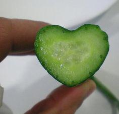 Pepino en forma de corazón
