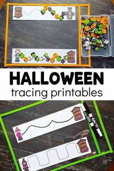 Young children can use these Halloween tracing strips to practice their fine motor skills in a variety of ways. Cutting, tracing, and using manipulatives are all much more fun when they're Halloween themed! Snag the FREE printable strips here! Halloween Science, Halloween Activities For Kids, Halloween Themes, Preschool Lesson Plans, Free Preschool, Preschool Printables, Early Learning Activities, Preschool Activities, Enchanted Learning