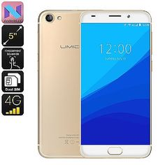 Consumer Electronics>Mobile Phones U UMIDIGI G Smartphone - Android 7.0, Quad Core CPU, Fingerprint Scanner, 4G, Dual SIM, 5 Inch (Gold) Manufacturer Specifications General OS Version: Android 7.0 CPU