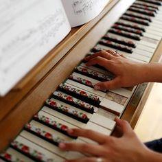 washi tape piano I love it!