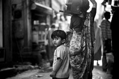 Child in street of Jodhpur- Question of curiosity?