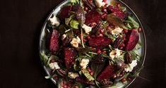 Winter beet and pomegranate salad by Greek chef Akis Petretzikis! An easy, quick recipe for the most delicious winter salad, perfect for a holiday table, too! Pomegranate Salad, Winter Salad, Salad Bar, Holiday Tables, Quick Recipes, Salad Dressing, Thanksgiving Recipes, Beets, Finger Foods