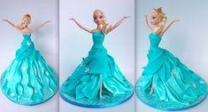 Cake Blog: Elsa Doll Cake Tutorial Good.