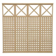 4 High Lattice With X Privacy Panel