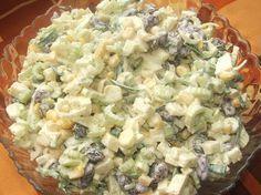 """""""Kolejna sałatka z selerem naciowym, którą poczyniłam. I po raz kolejny mogę ją śmiało polecić. Składniki: seler naciowy pół małeg... Veg Recipes, Salad Recipes, Vegetarian Recipes, Cooking Recipes, Salate Warm, Nutella, Lunch To Go, Slow Food, Side Salad"""