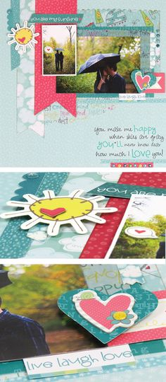 NEW Heidi Grace Sunshower collection from Colorbök, available exclusively at Joann Fabric & Craft. Scrapbooking Layouts, Scrapbook Cards, Crafts To Do, Diy Crafts, Fabric Crafts, Paper Crafts, Craft Things, Candy Cards, Simple Stories