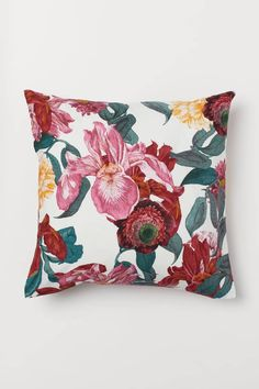 Pink Cushions, Floral Pillows, Velvet Cushions, Scatter Cushions, Decorative Cushions, Orange Living Room Sofas, Living Room Cushions, Cushions Online, H&m Home