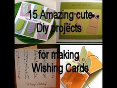 15 amazing diy projects for making wishing cards