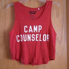 """""""Camp counselor"""" crop top Red vintage styled crop top! NWOT *not LA hearts*  ?BUNDLE FOR LOWER PRICES ?OFFERS ACCEPTED ?LOWER PRICES ON MERC  Tags: Victoria's Secret, Pacsun, Brandy Melville, LA hearts, PINK, Bullhead, Vans, UGG, American Eagle, Calvin Klein, Michael Koors, H&M, Forever 21, Levis, Miss Me, Silver, North Face, Columbia, Roxy, Express, Coach, Free People, Kate Spade, Macy's, American Rag, American Apparel, Urban Outfitters, Converse, Nike, Abercrombie, Gucci, Nordstroms…"""
