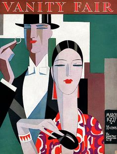 Fashion Illustration Design Vanity Fair Cover - March 1927 Poster Print by Eduardo Garcia Benito at the Condé Nast Collection - A Elegant Couple by Eduardo Garcia Benito Art Deco Illustration, Illustration Fashion, Art Deco Posters, Poster Prints, Art Prints, Retro Poster, Vintage Posters, Cover Art, Moda Art Deco