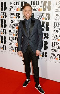 Olly Murs at the Brit Awards 2016. Photos Red Carpet Outfits, Style and Fashion Looks.