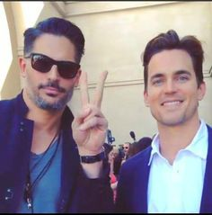 Matt and Joe promoting MMXXL at CinemaCon in Vegas (April 2015)